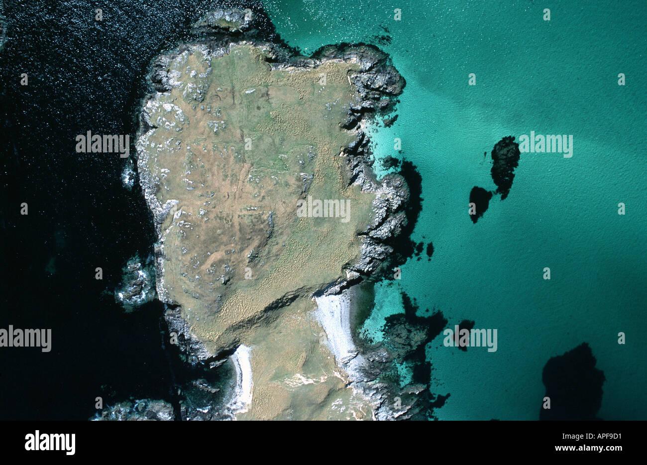 Aerial view of Scottish coast - Stock Image