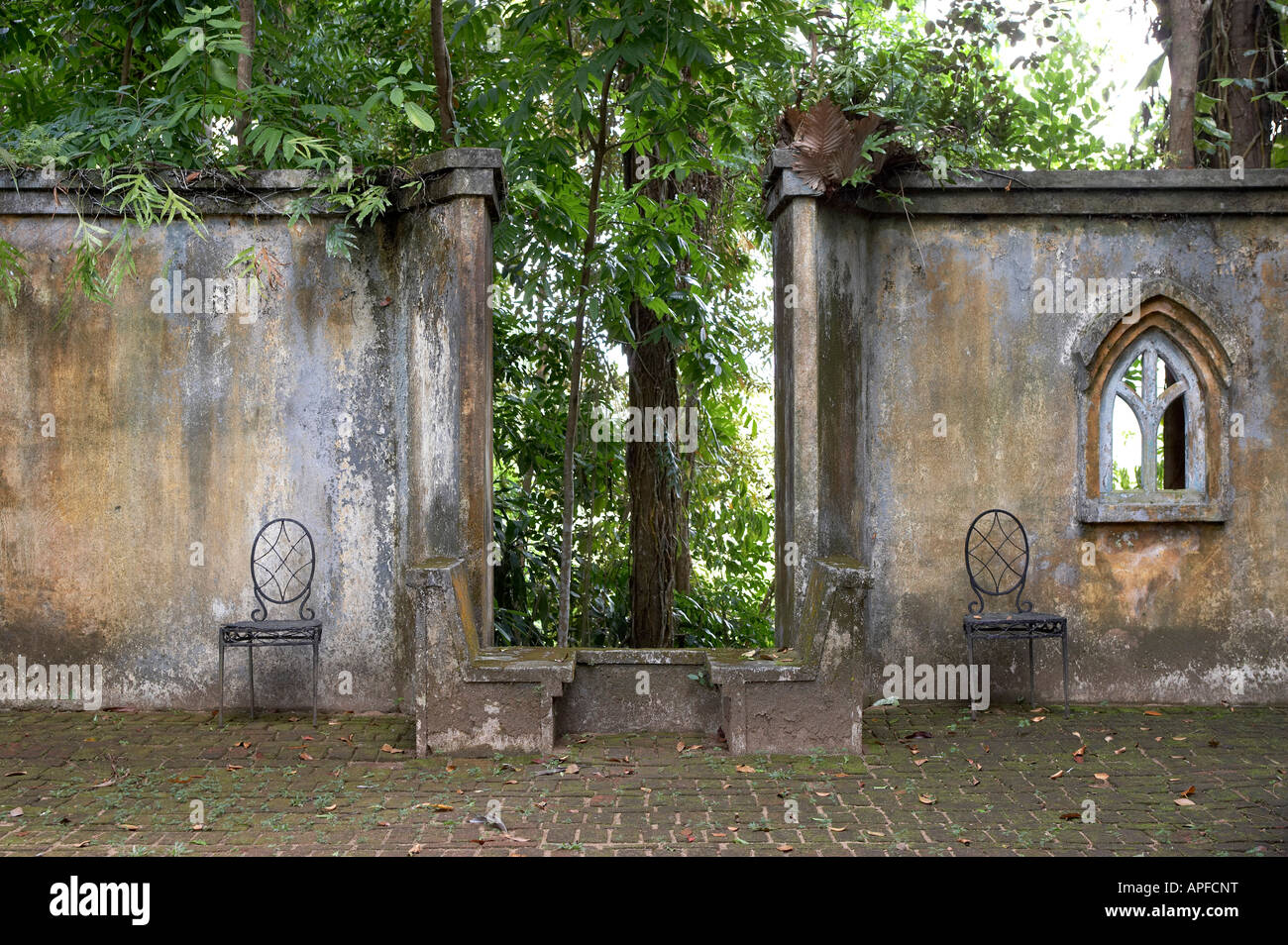 Lunuganga, Sri Lanka.Country home of the late Geoffrey Bawa now a boutique hotel Architect: Geoffrey Bawa - Stock Image