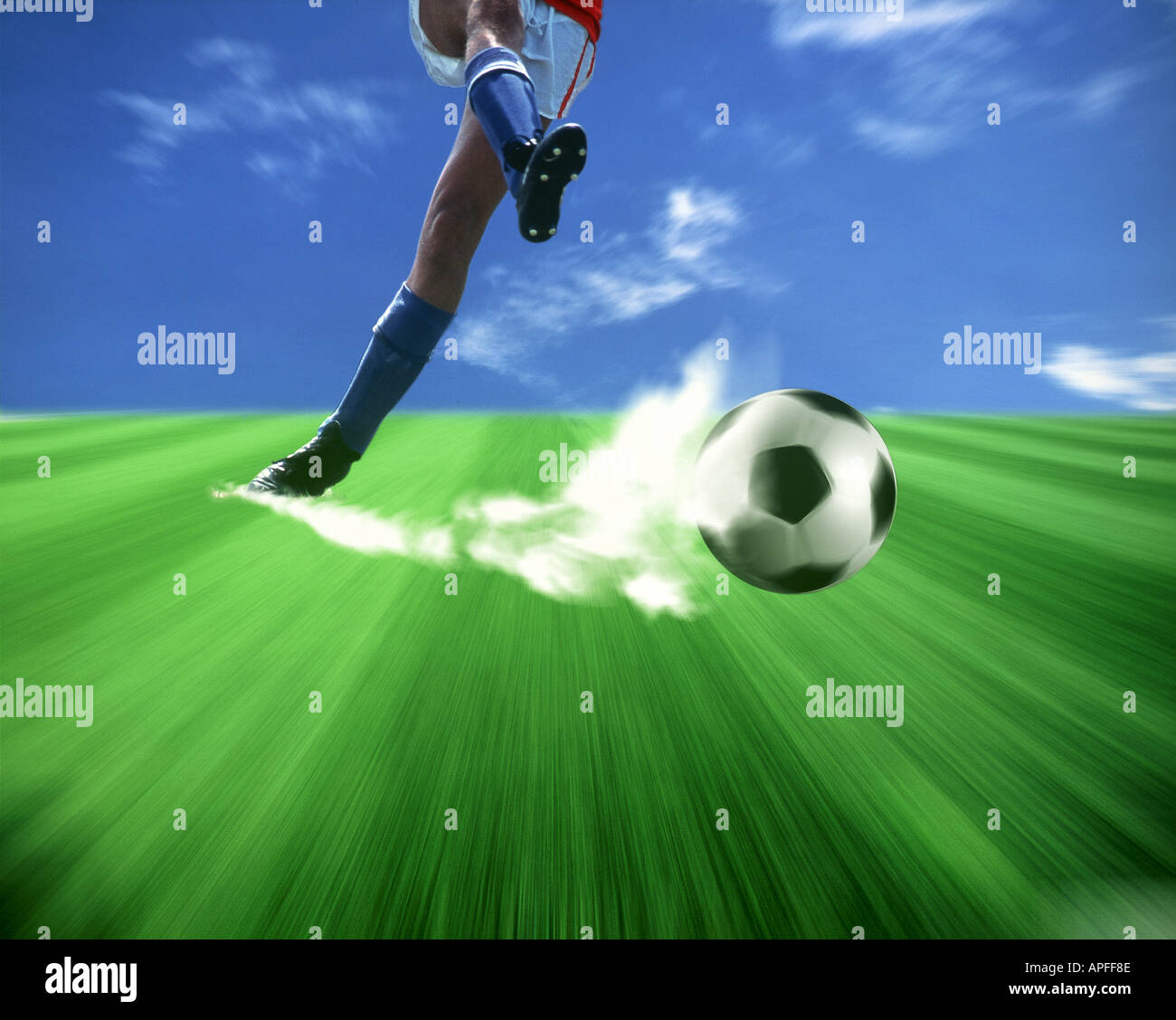 Sport Illustrations Computer Graphics CG Team Sports Ball Games Soccer Football - Stock Image