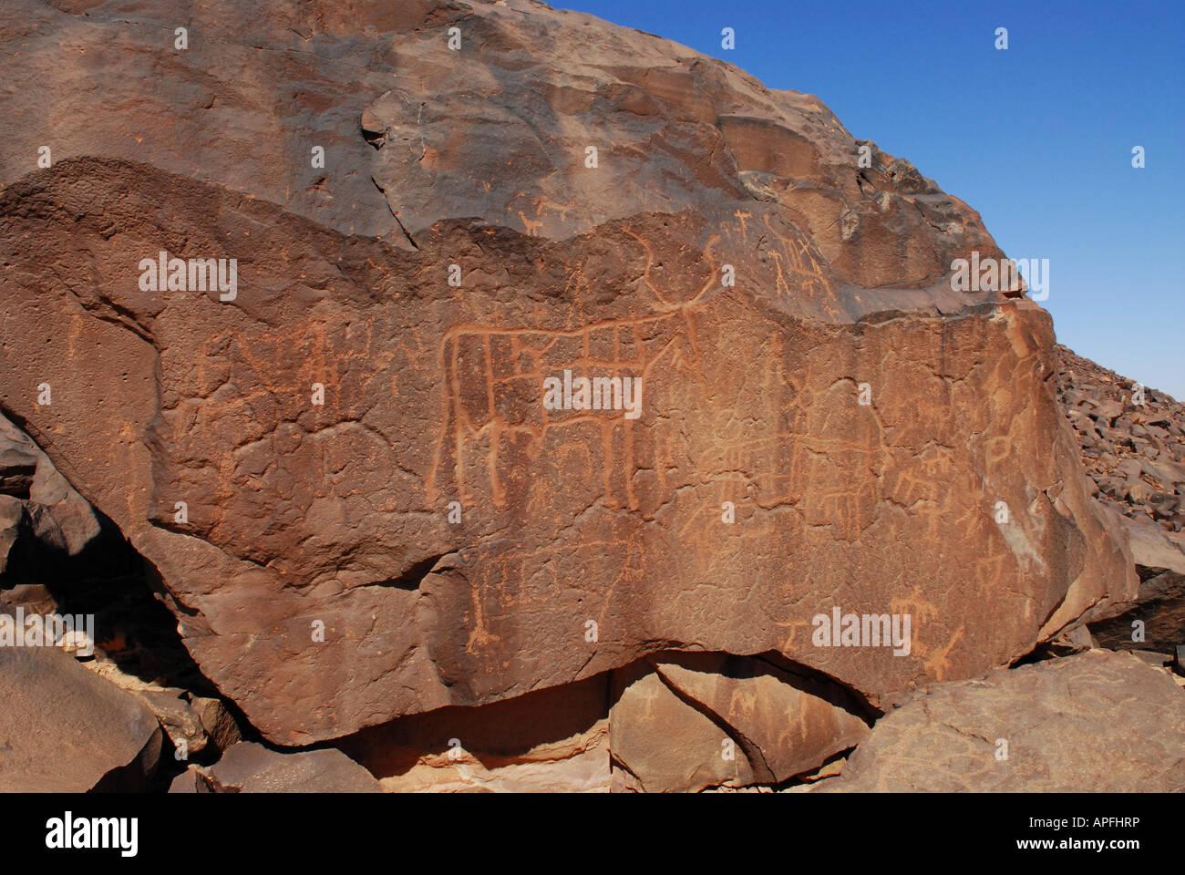 Petroglyphs Africa - Stock Image