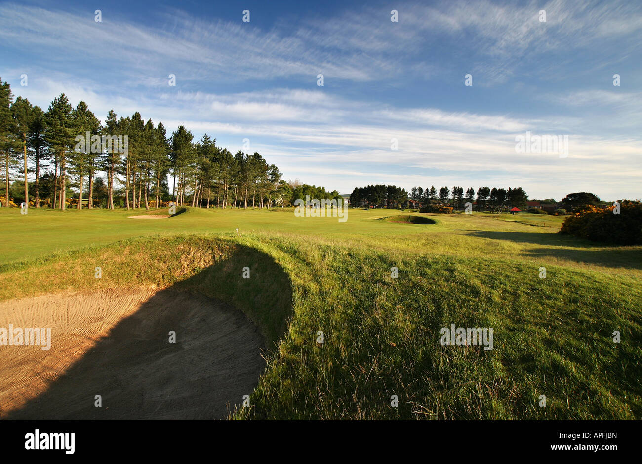 Carnoustie Championship Golf Links 9th Hole - Stock Image