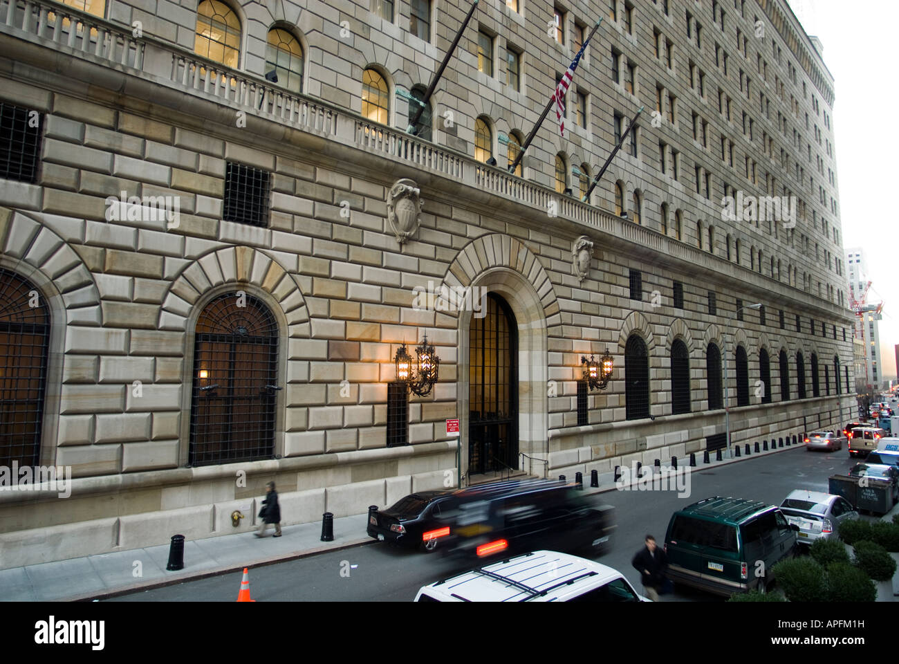 The Federal Reserve Bank Of New York Building On Liberty Street In