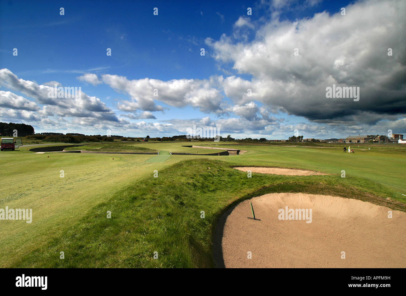 Carnoustie Championship Golf Links 17th Hole - Stock Image