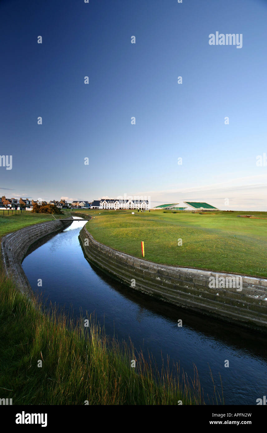 Carnoustie Championship Golf Links 18th Hole - Stock Image