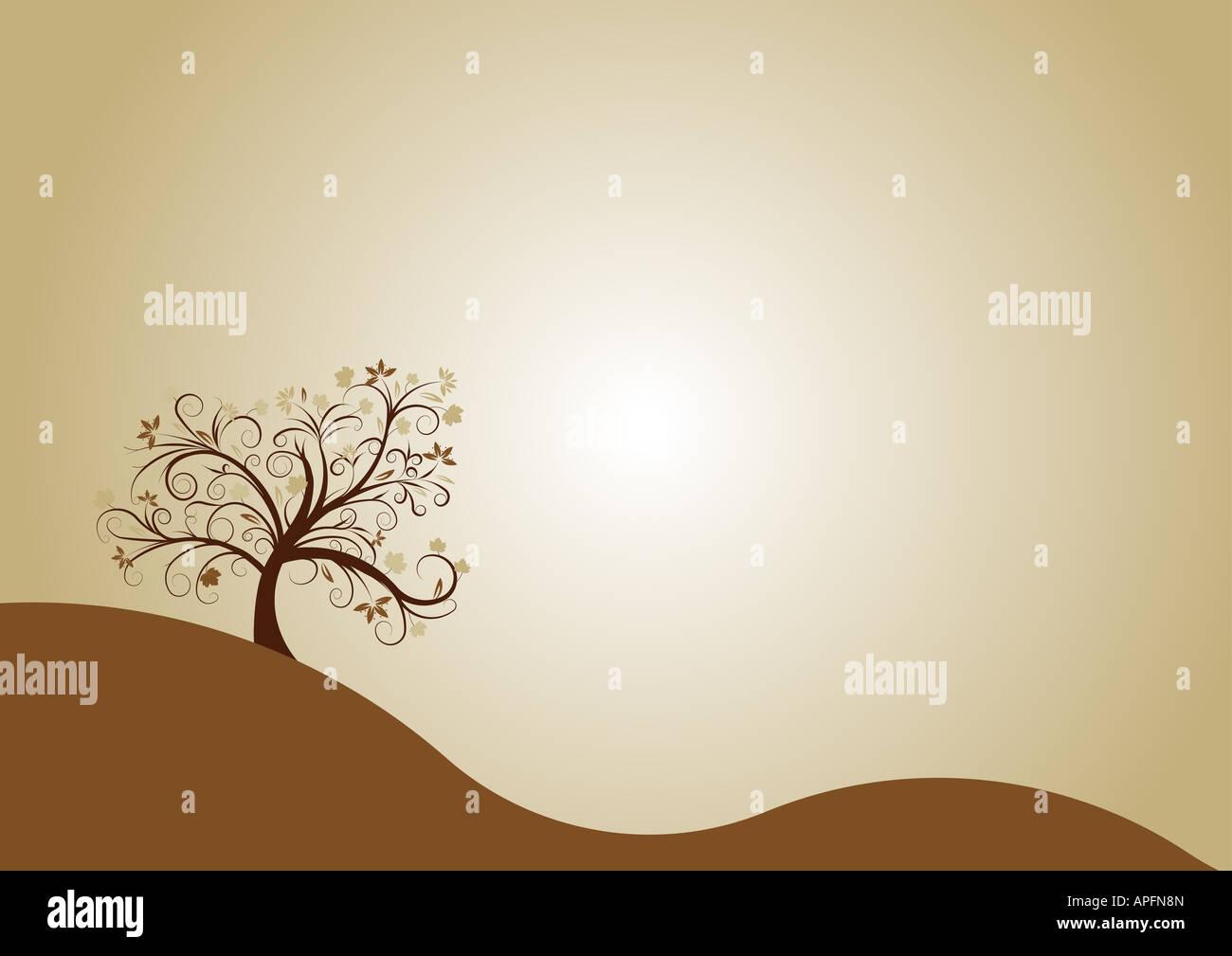 autumn tree design - Stock Image