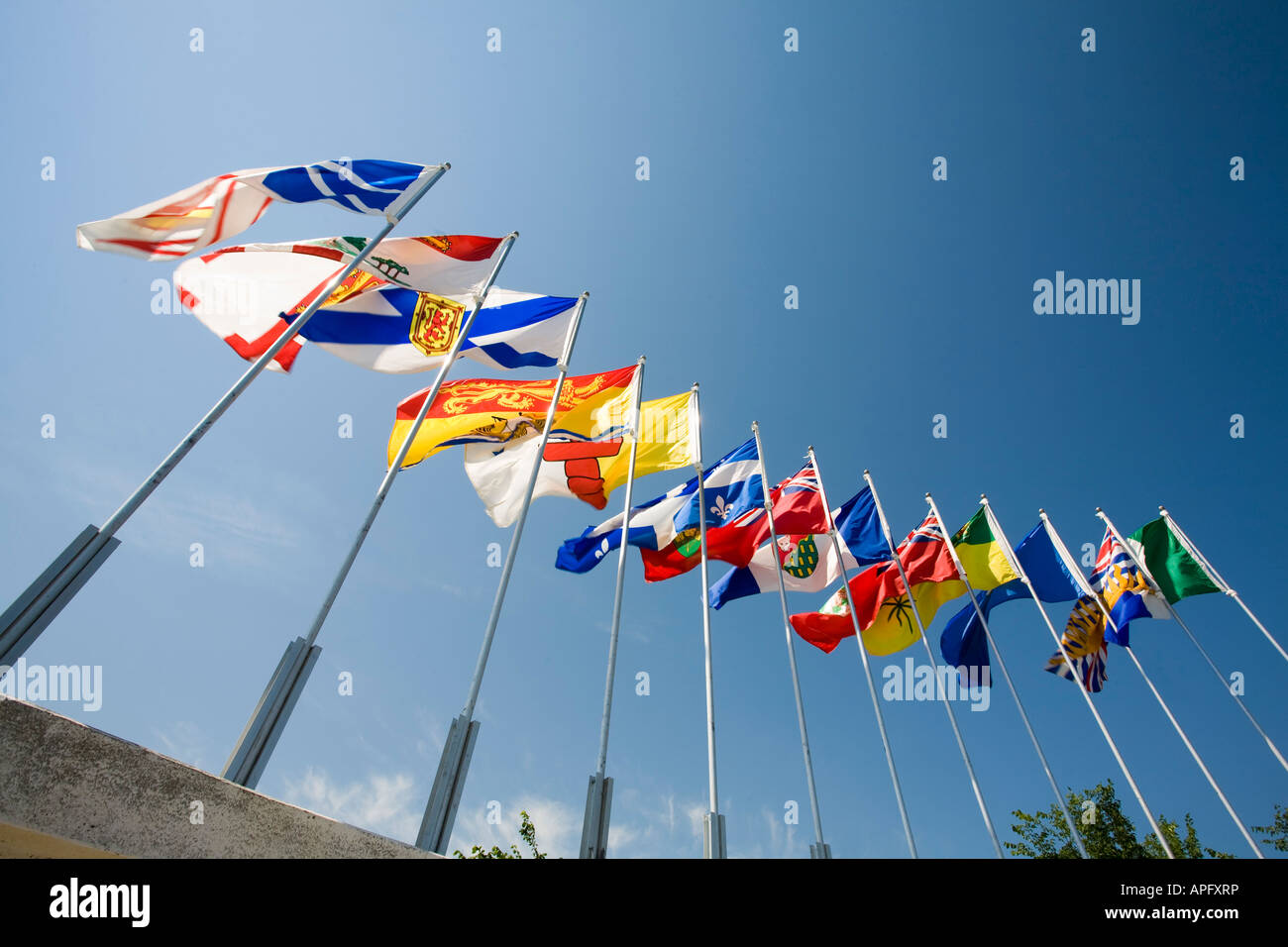 Flags of Canadian provinces - Stock Image