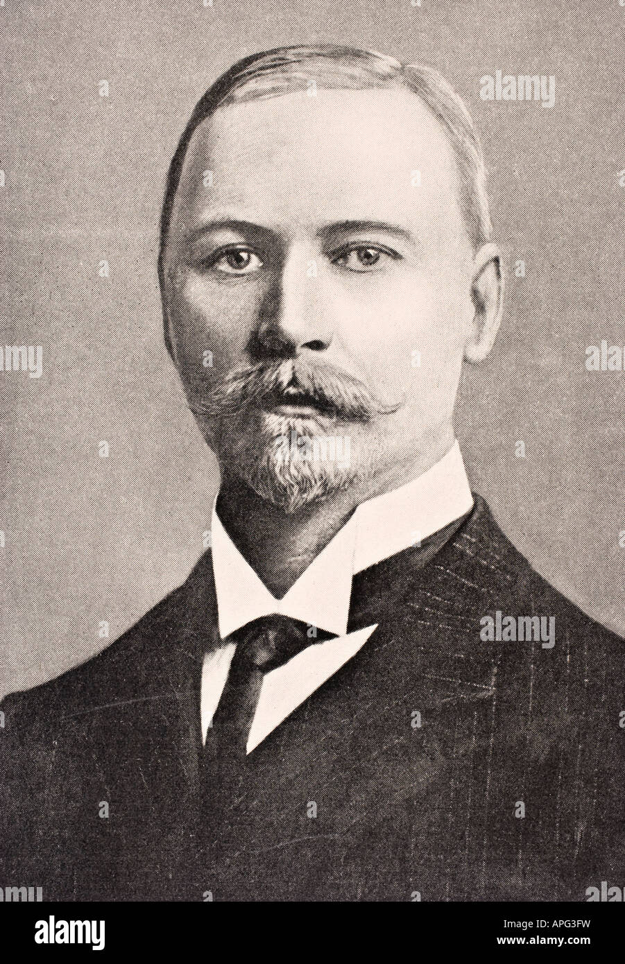 Jan Christiaan Smuts 1870 to 1950 South African statesman and soldier as he looked circa 1915 - Stock Image
