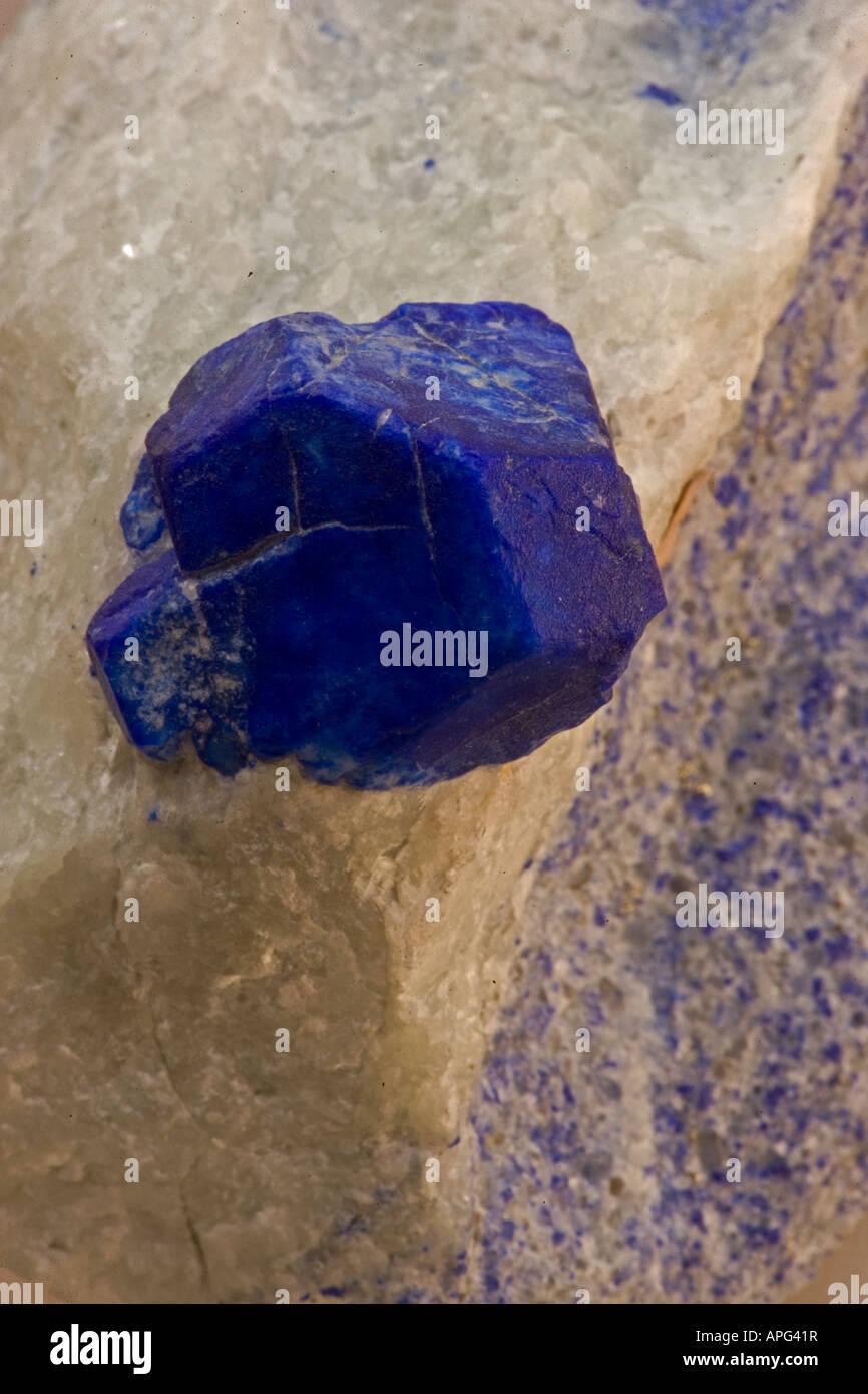 Lazulite -  Close-up - Sare Sanga Afghanistan - Stock Image