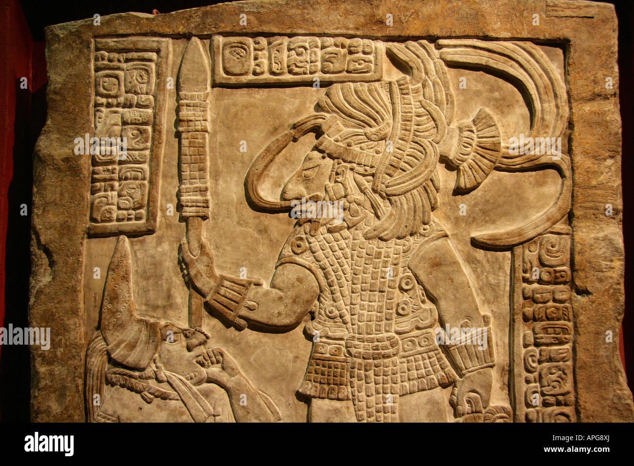 Bloody Mayan rite 2- British Museum - Stock Image
