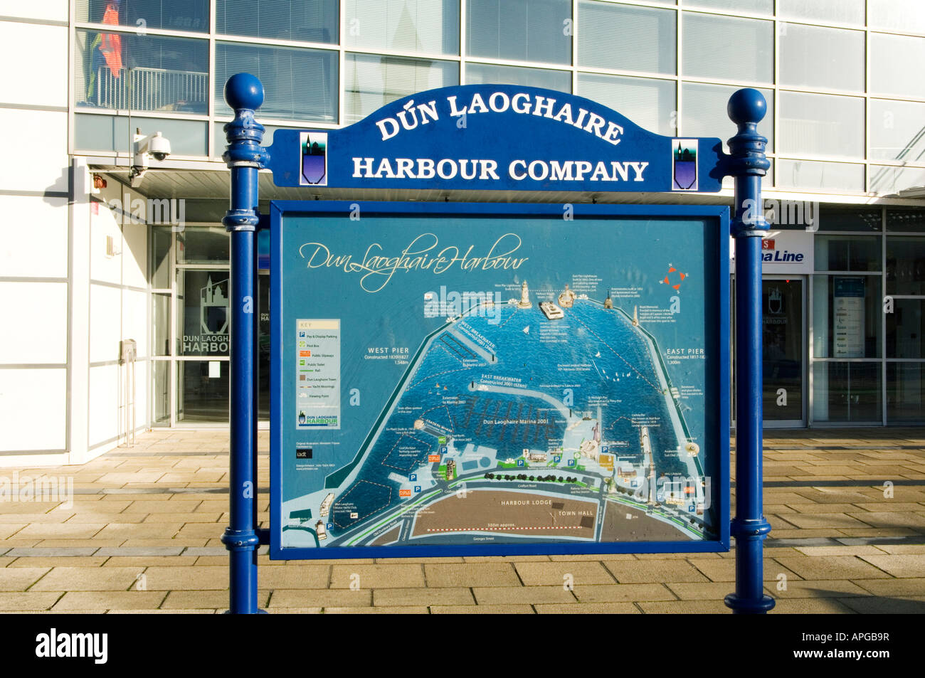 Map Of Ireland Near Dublin.A Notice Board At Dun Laoghaire Harbour Near Dublin Ireland With A