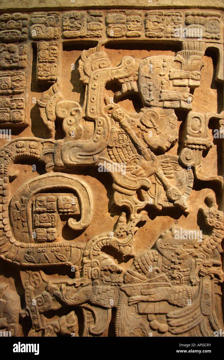 Bloody Mayan rite 3- British Museum - Stock Image