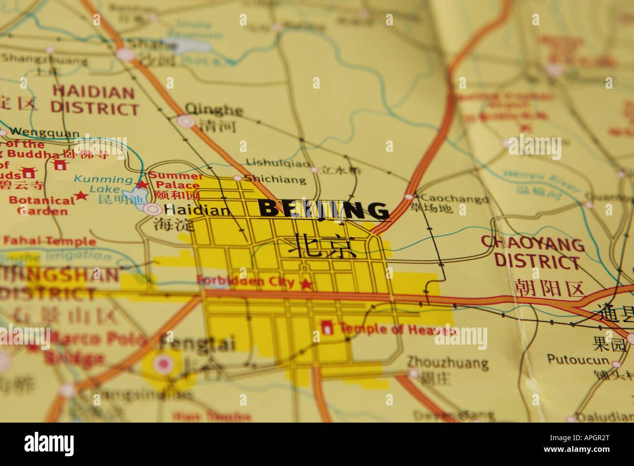 Beijing Map Stock Photos Beijing Map Stock Images Alamy