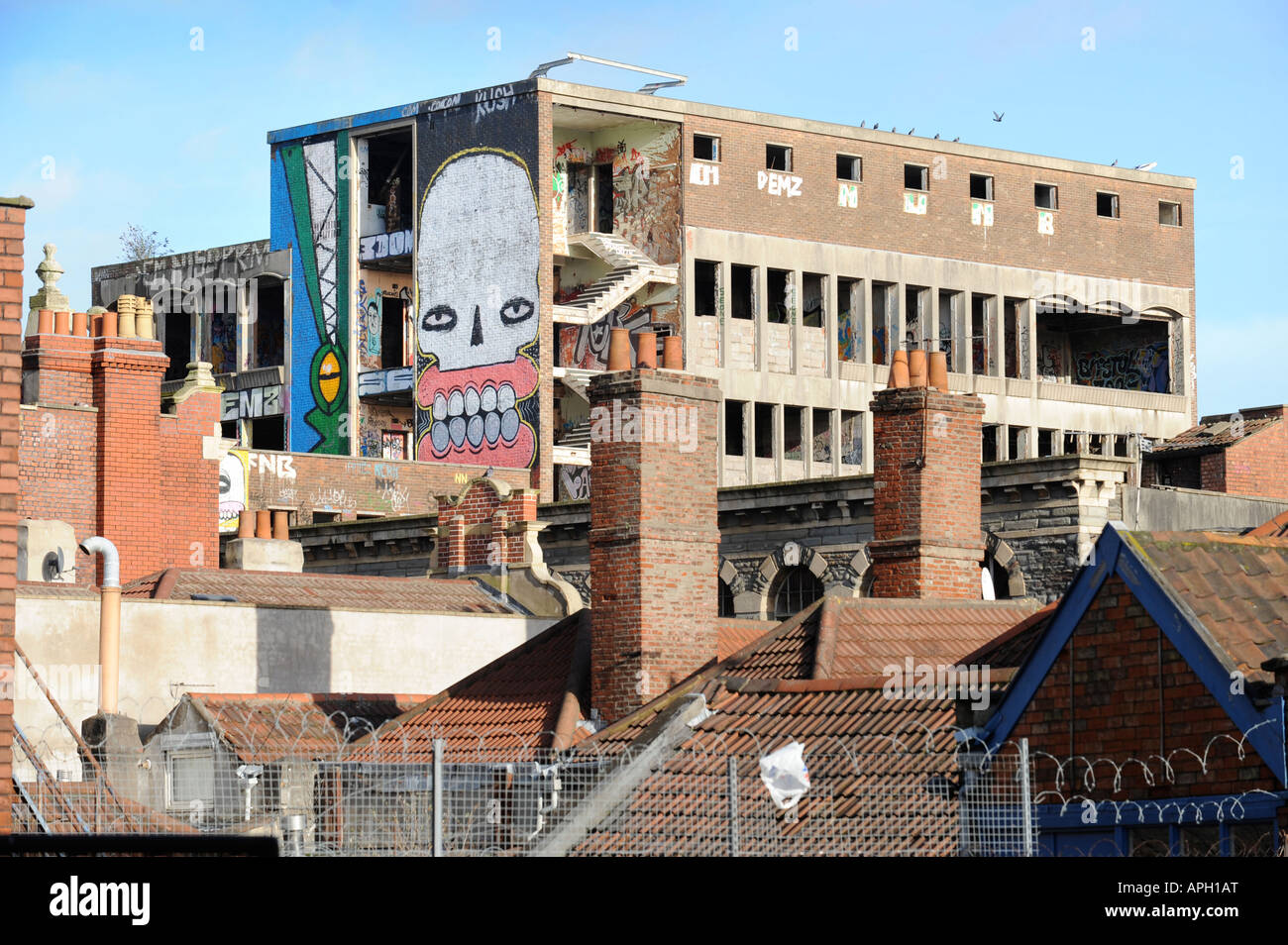 GRAFFITI WORK IN STOKES CROFT BRISTOL - Stock Image