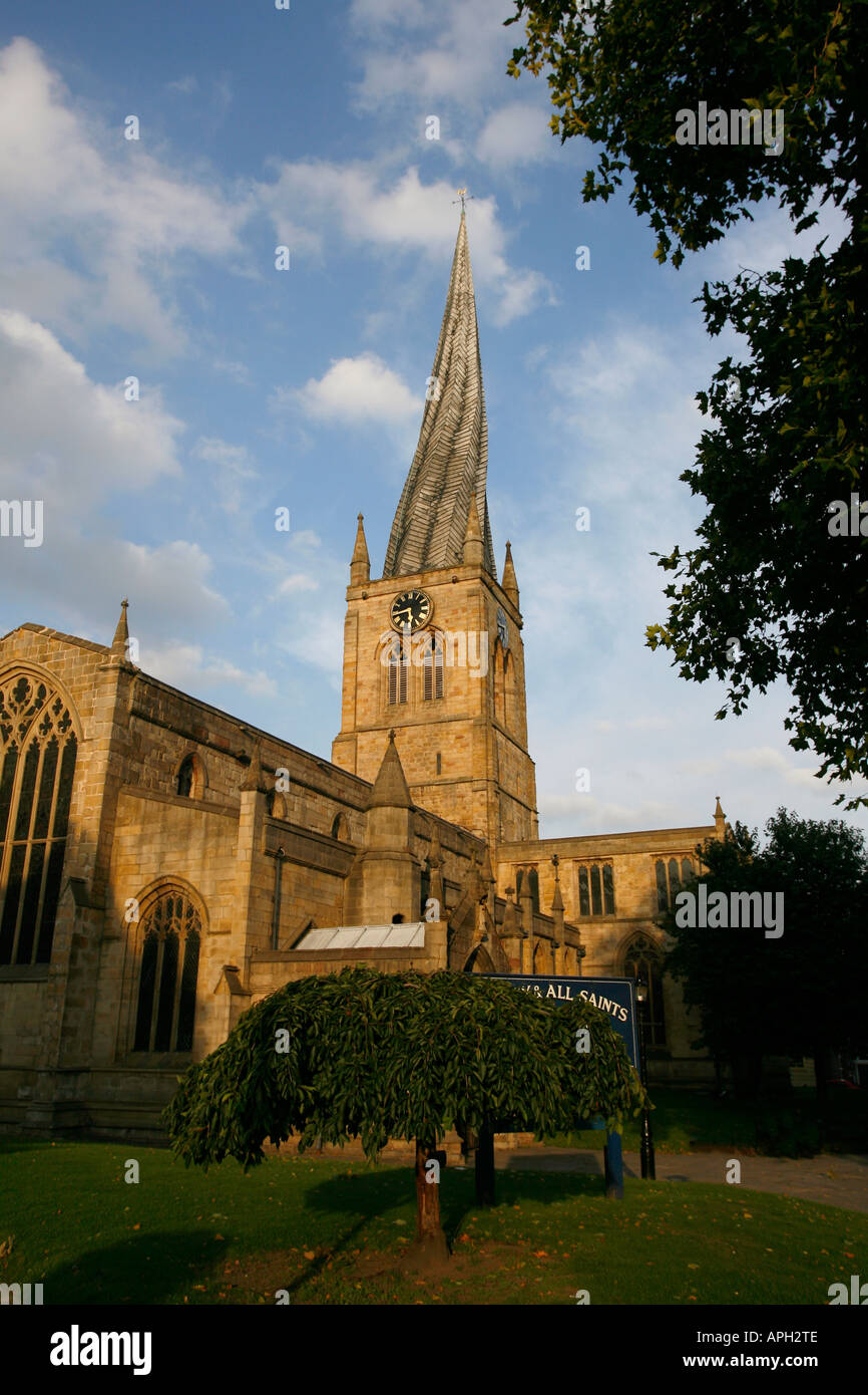 Parish Church of St Mary and All Saints Chesterfield North Derbyshire England UK - Stock Image