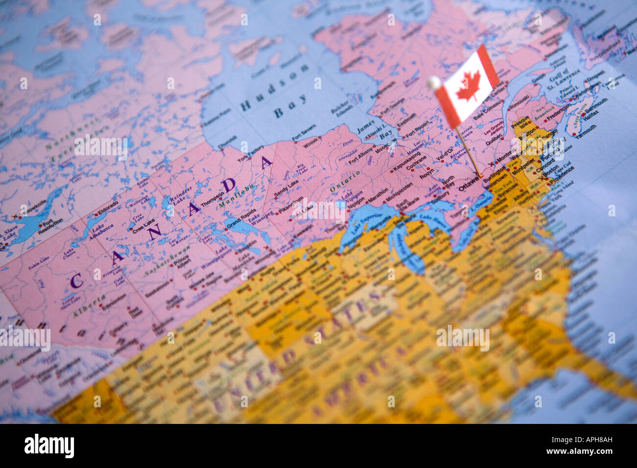 Flag pin placed on world map in the capital of canada ottawa stock flag pin placed on world map in the capital of canada ottawa gumiabroncs Gallery