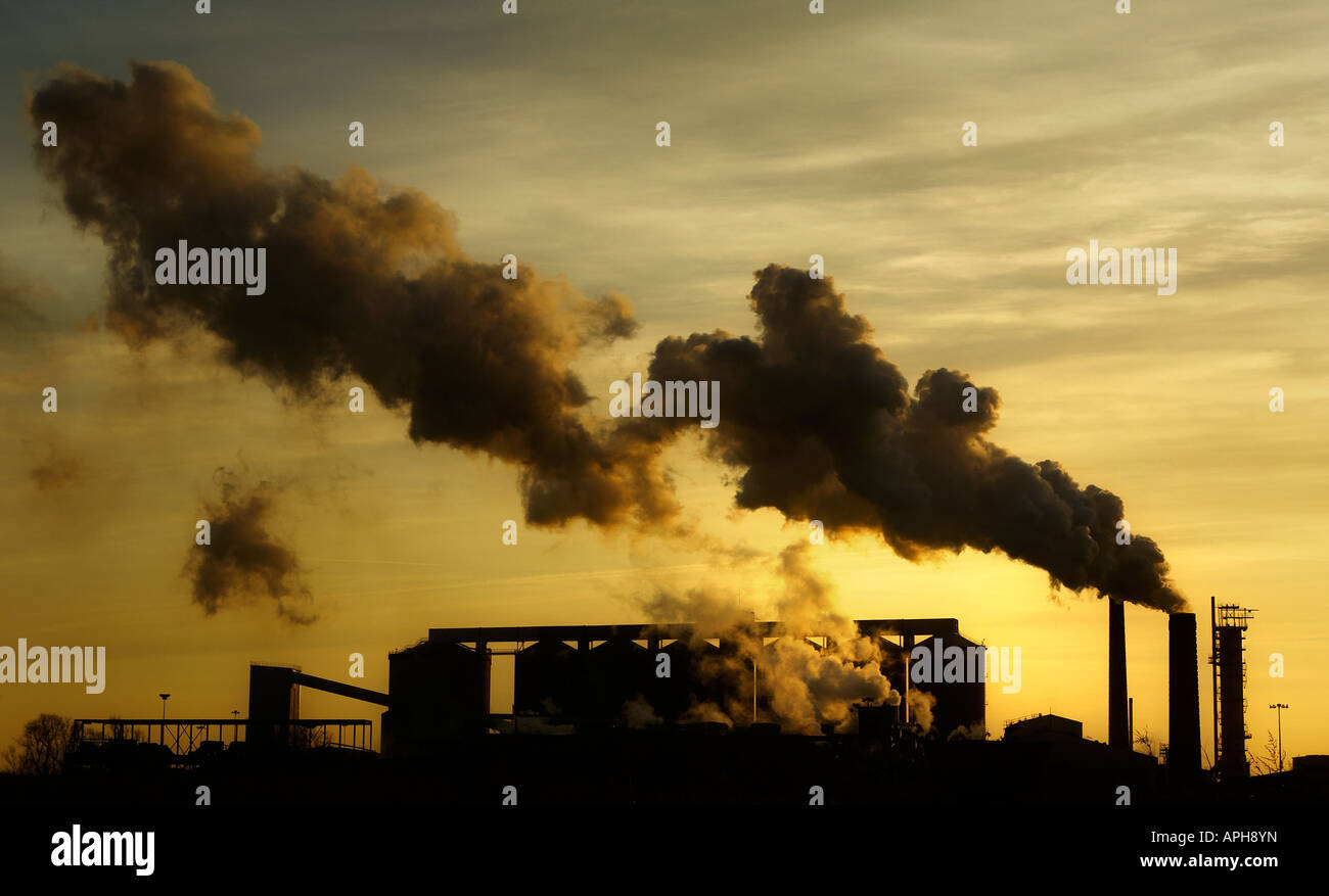 Polluting the Skies - Stock Image