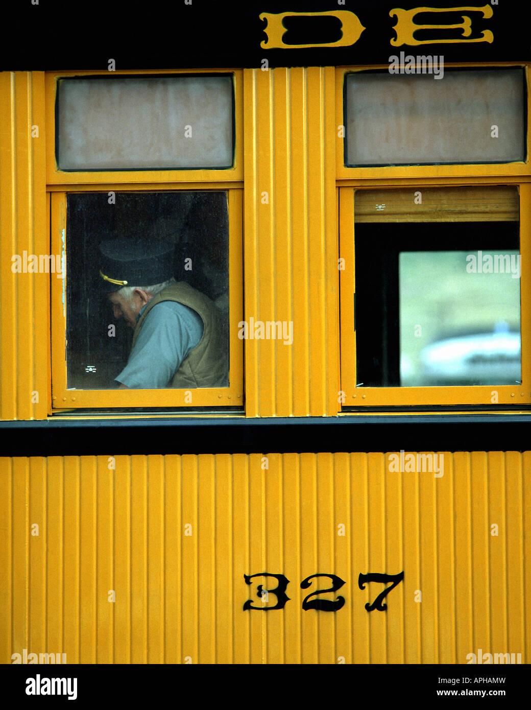 USA - COLORADO: Detail of Denver & Rio Grande Railway Carriage - Stock Image