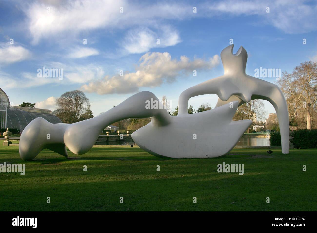 Large Reclining Figure Henry Moore Sculpture Kew Gardens 2007 Stock ...