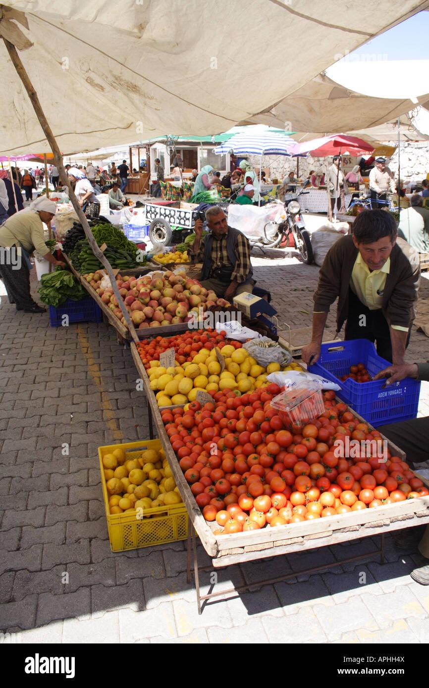 Turkish Fresh Food Market Stock Photo
