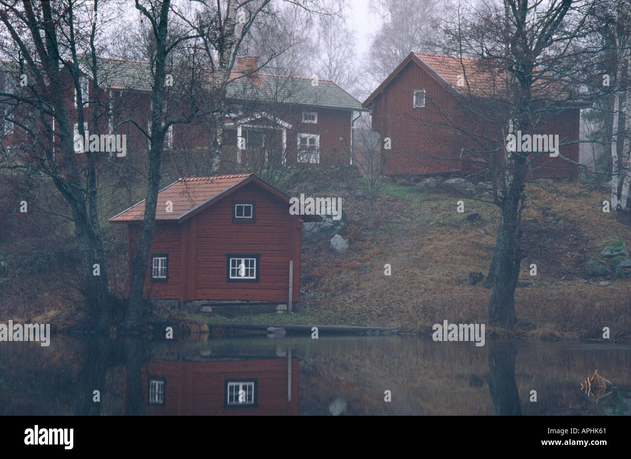 Rural houses - Stock Image
