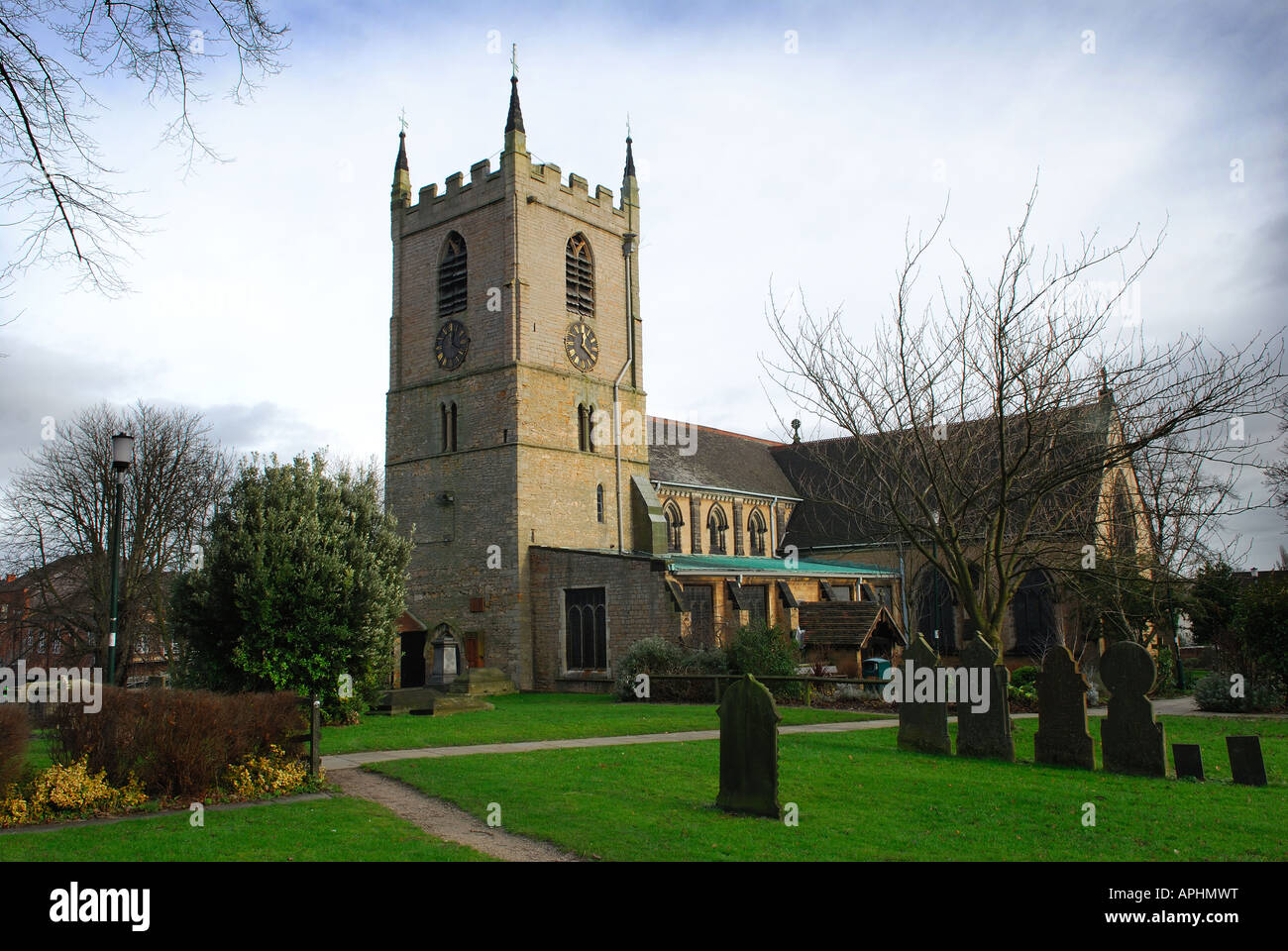 Mary St Magdalene Church Hucknall. Stock Photo