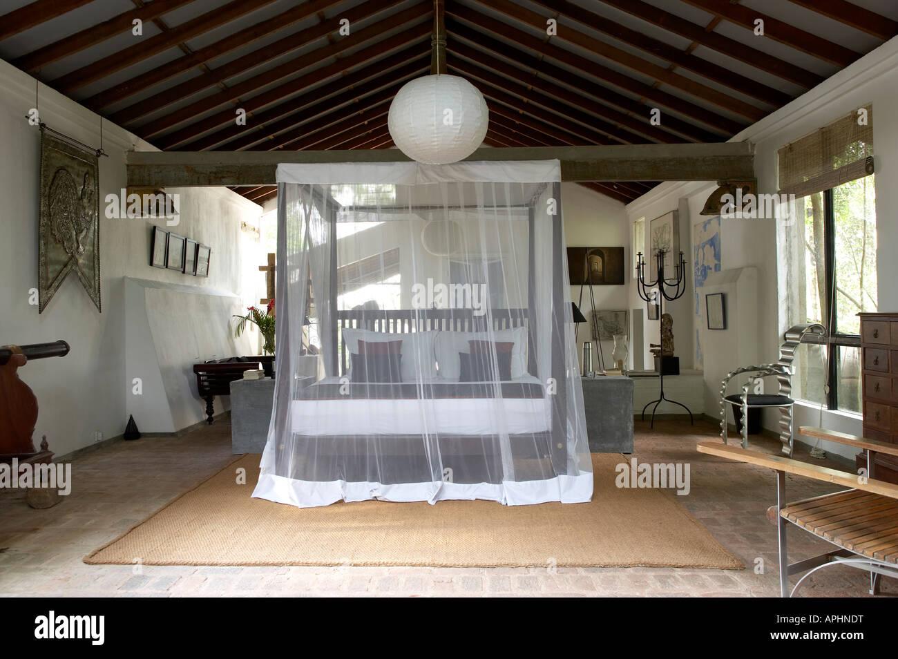 Lunuganga, Sri Lanka.Country home of the late Geoffrey Bawa now a boutique hotel. Architect: Geoffrey Bawa - Stock Image