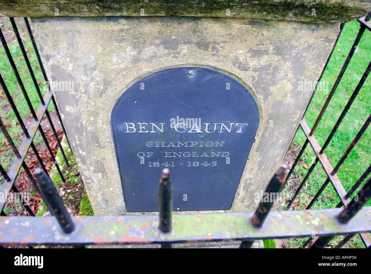 Benjamin Caunt.Champion Boxer of England. Stock Photo