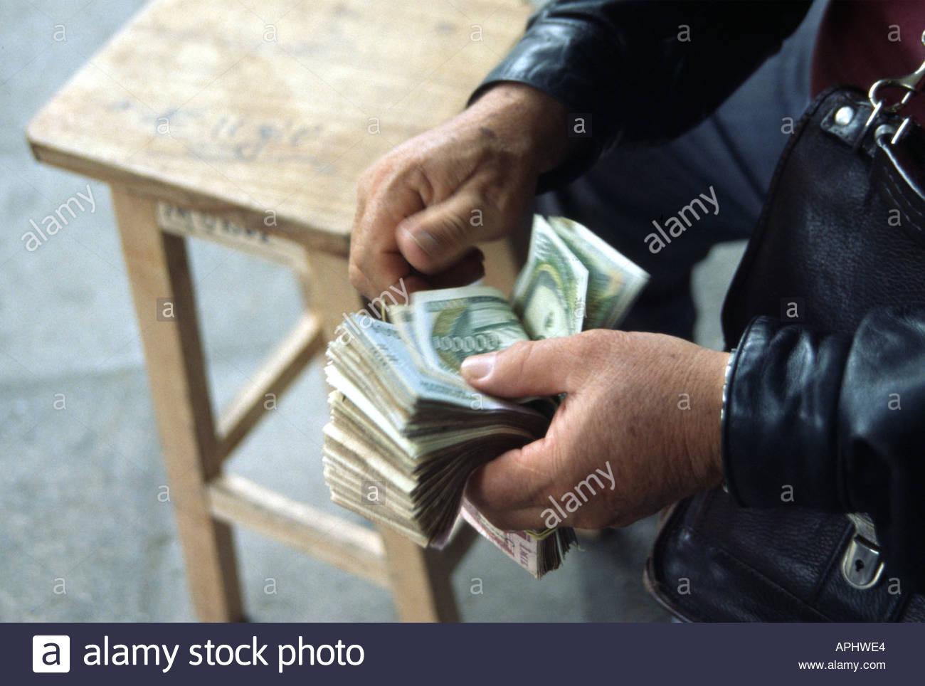 ASUNCION PARAGUAY  Black market currency dealers - Stock Image
