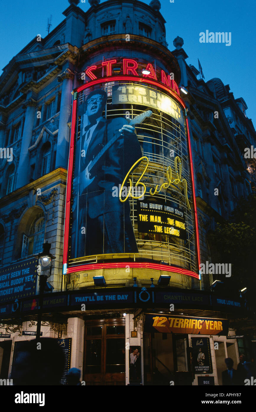 The Strand Theatre showing the musical Buddy Now called the Novello Theatre London England - Stock Image