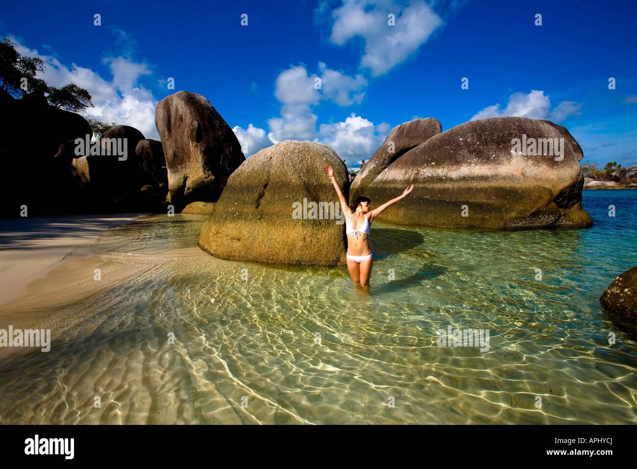 Indonesia, Bangka-Belitung Province, Belitung Island. Stock Photo