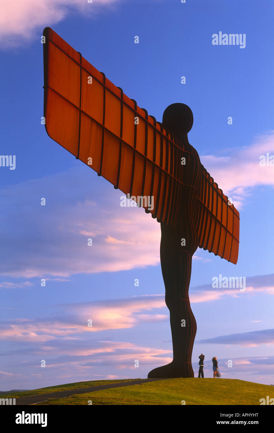 Evening view of the Gateshead Angel of the North, Gateshead, Tyne and Wear - Stock Image