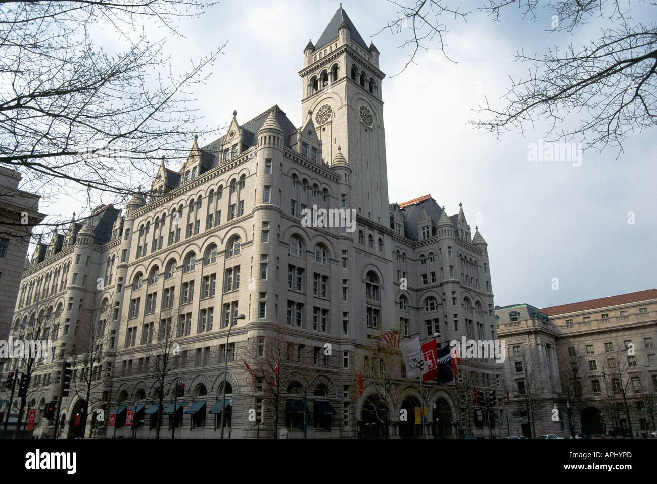 The Romanesque 1890 s structure of the Old City Post Office Washington - Stock Image