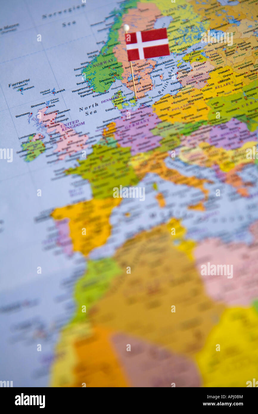 Denmark Map Stock Photos & Denmark Map Stock Images - Page 3 - Alamy