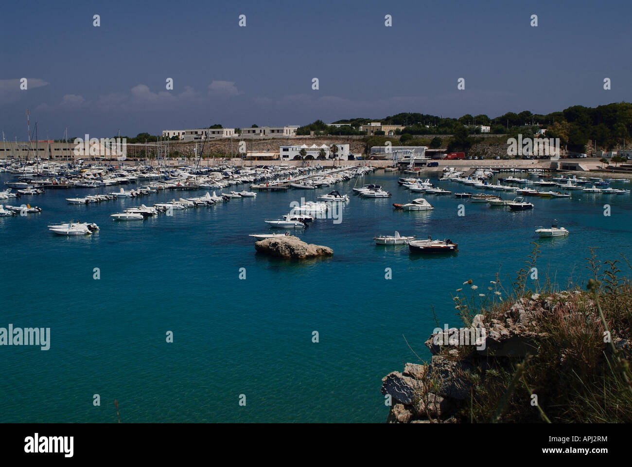 geography / travel , Italy, Apulia, Otranto, marina, Additional-Rights-Clearance-Info-Not-Available - Stock Image