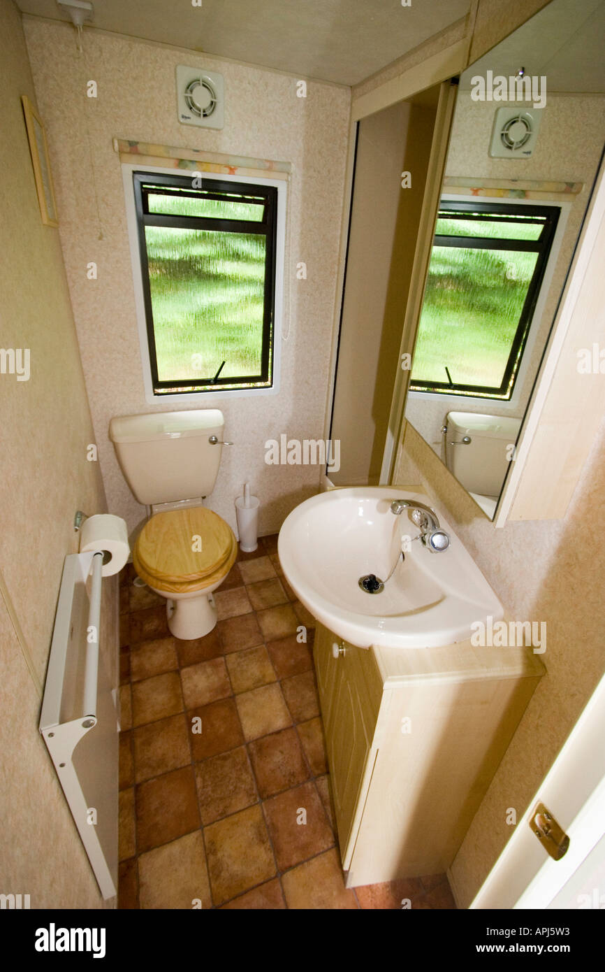 Interior Of A Luxury Static Caravan Sited On Park