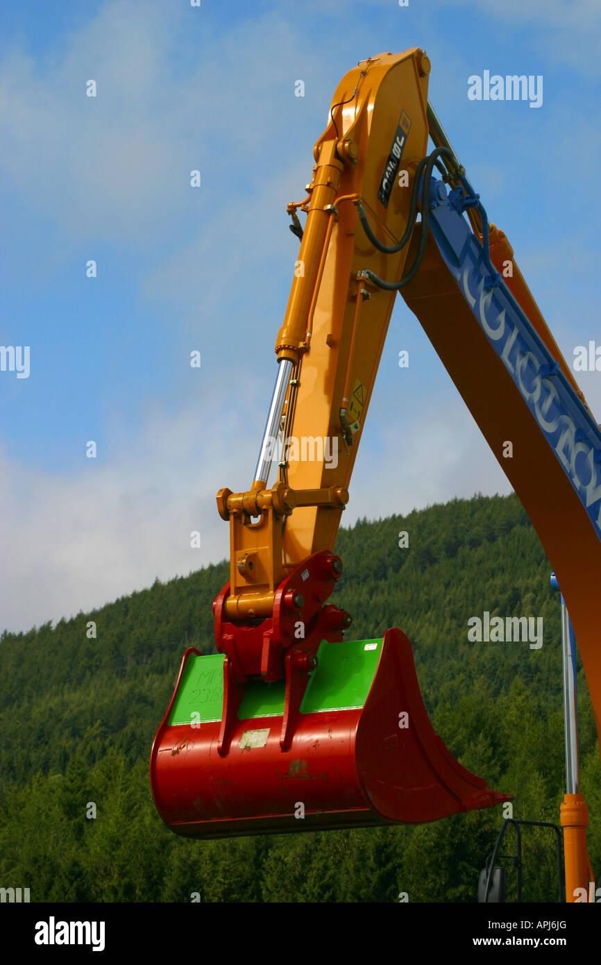Boom arm and bucket of excavator Stock Photo: 15801399 - Alamy