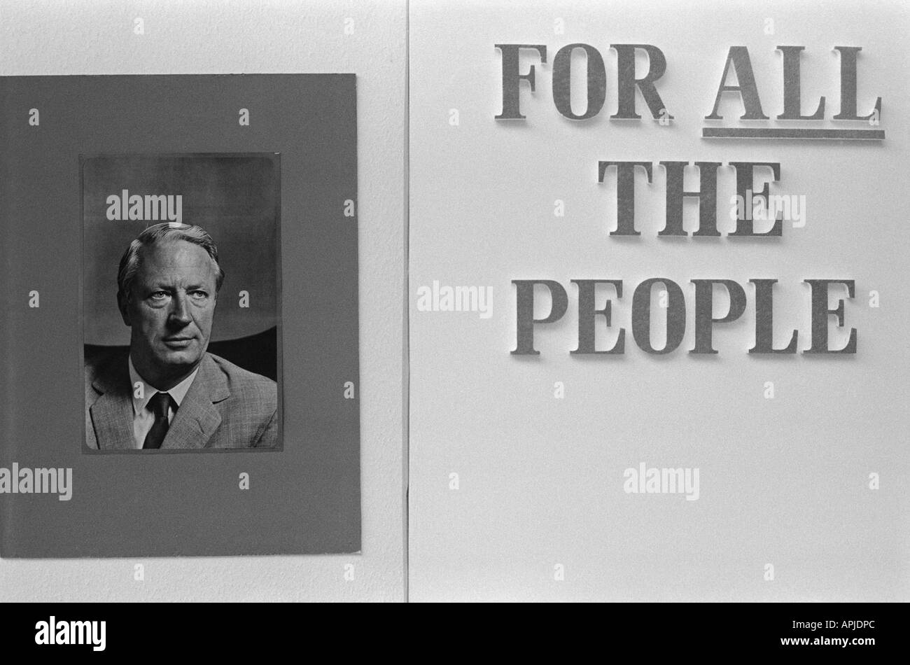 Close up of poster for Edward Ted Heath For  All the People. England  1973 Photograph by Homer Sykes - Stock Image