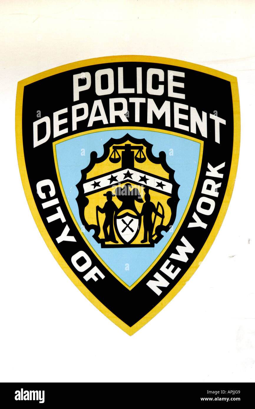 New York Police Department Badge Stock Photo: 9031560 - Alamy