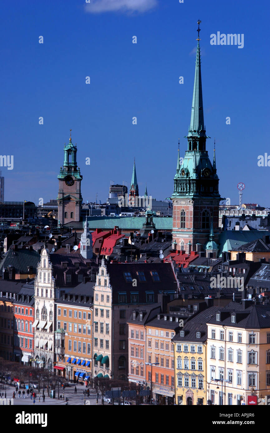 Stockholm skyline on Gamla Stan - Stock Image