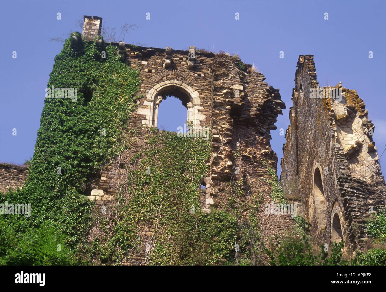 France Le Vigen Castle of Chalucet X11c Haute Vienne Region Middle Ages Europe - Stock Image