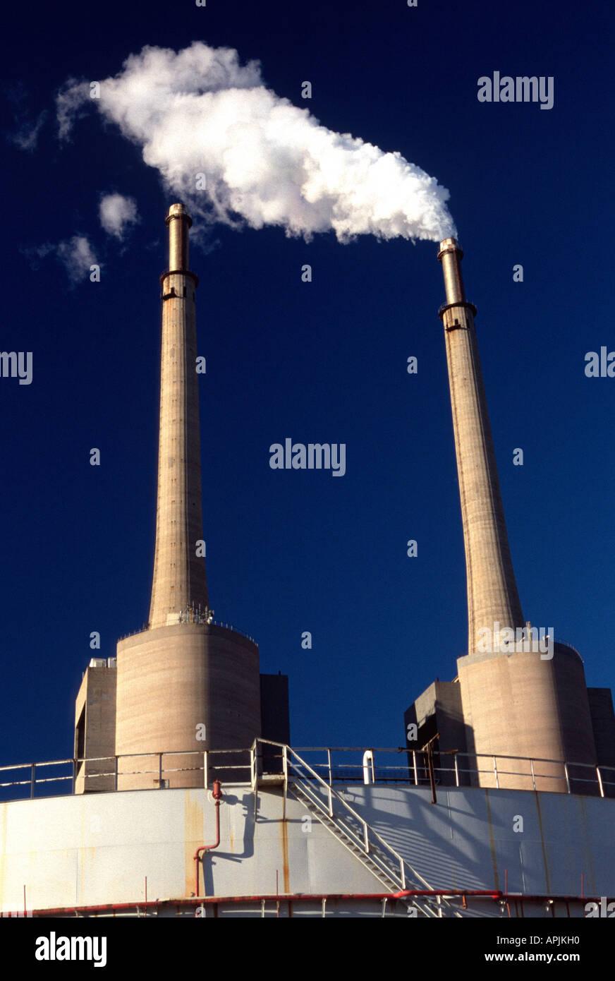 Power plant. - Stock Image