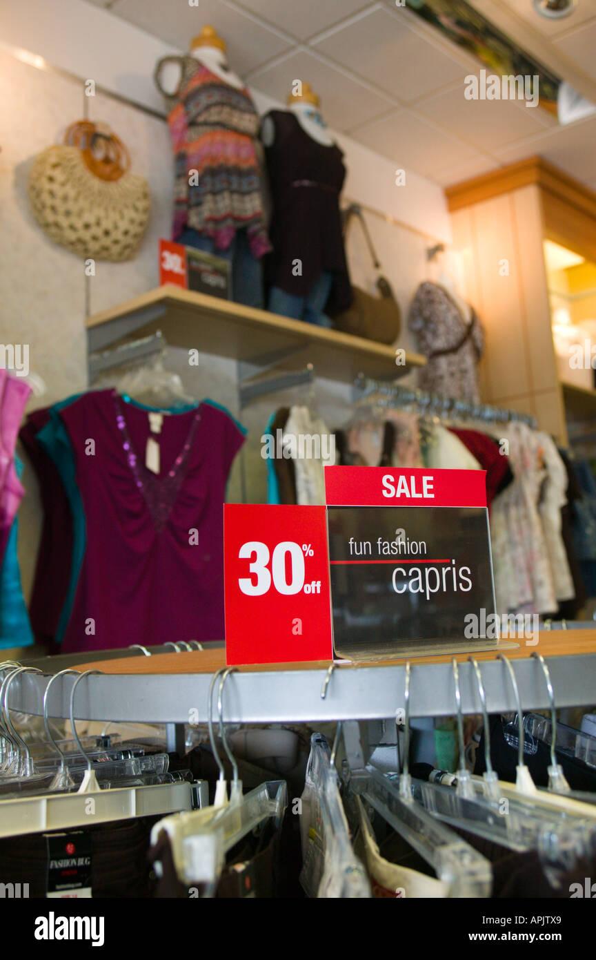 1db54cf62c28 Interior of Women s Retail Clothing Store Stock Photo: 9032872 - Alamy