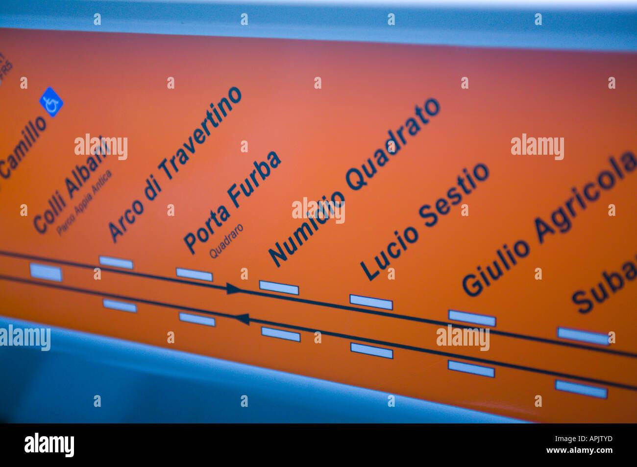 Rome Italy Subway Map.Subway Map Rome Italy Stock Photo 9032892 Alamy