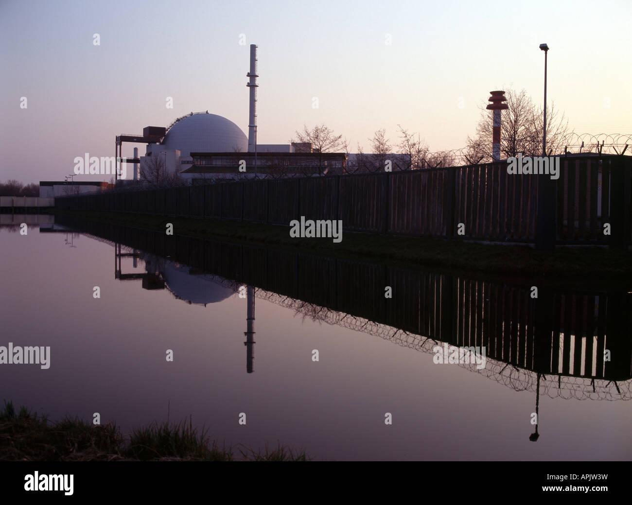 Brokdorf, Atomkraftwerk, - Stock Image