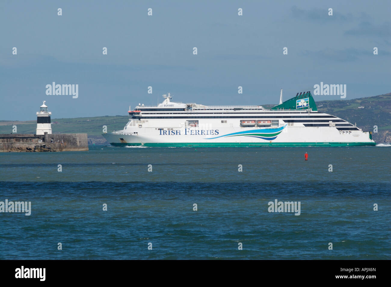 Ferry To Ireland From Holyhead >> Irish Ferry Ulysses Holyhead Port Stock Photo 15807980 Alamy