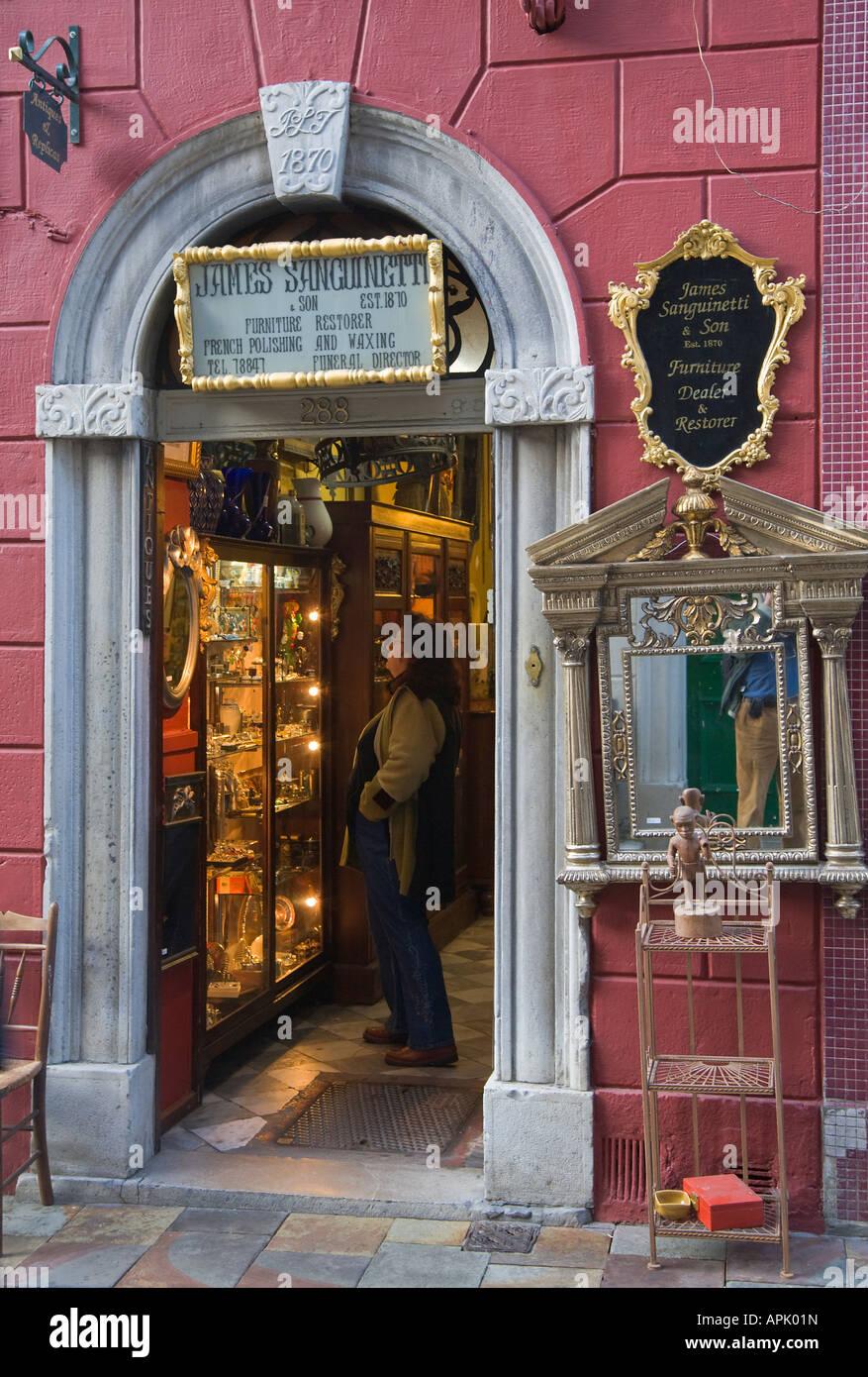 Gibraltar Georgian Front Of Main Street Antique Shop James Sanguinetti And  Son Furniture Dealer And Restorer