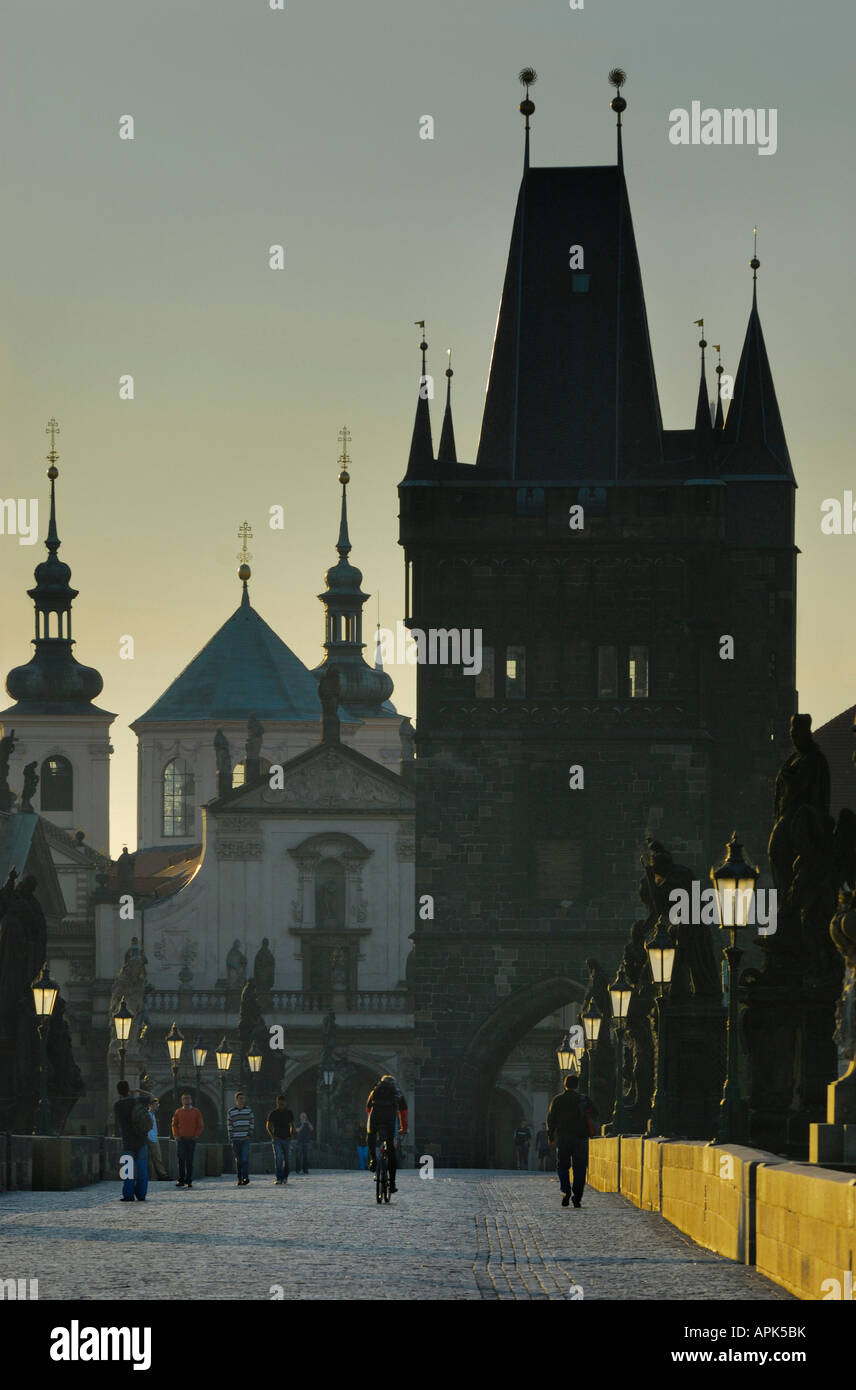 CHARLES BRIDGE, PRAGUE, CZECH REPUBLIC (CZE) Stock Photo