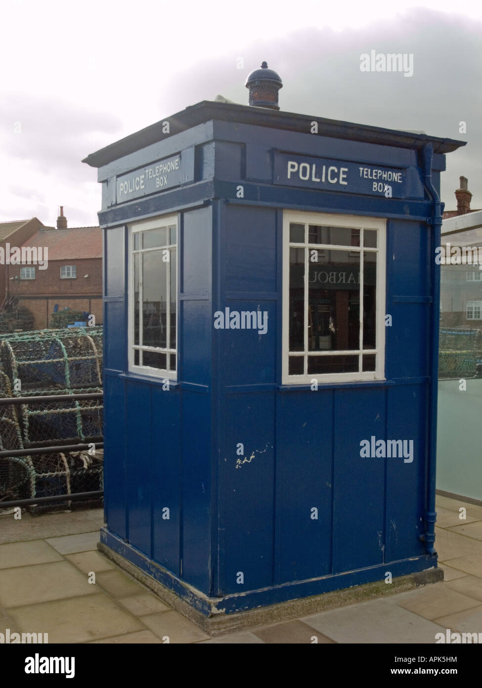 Police Box, South Bay, Scarborough - Stock Image