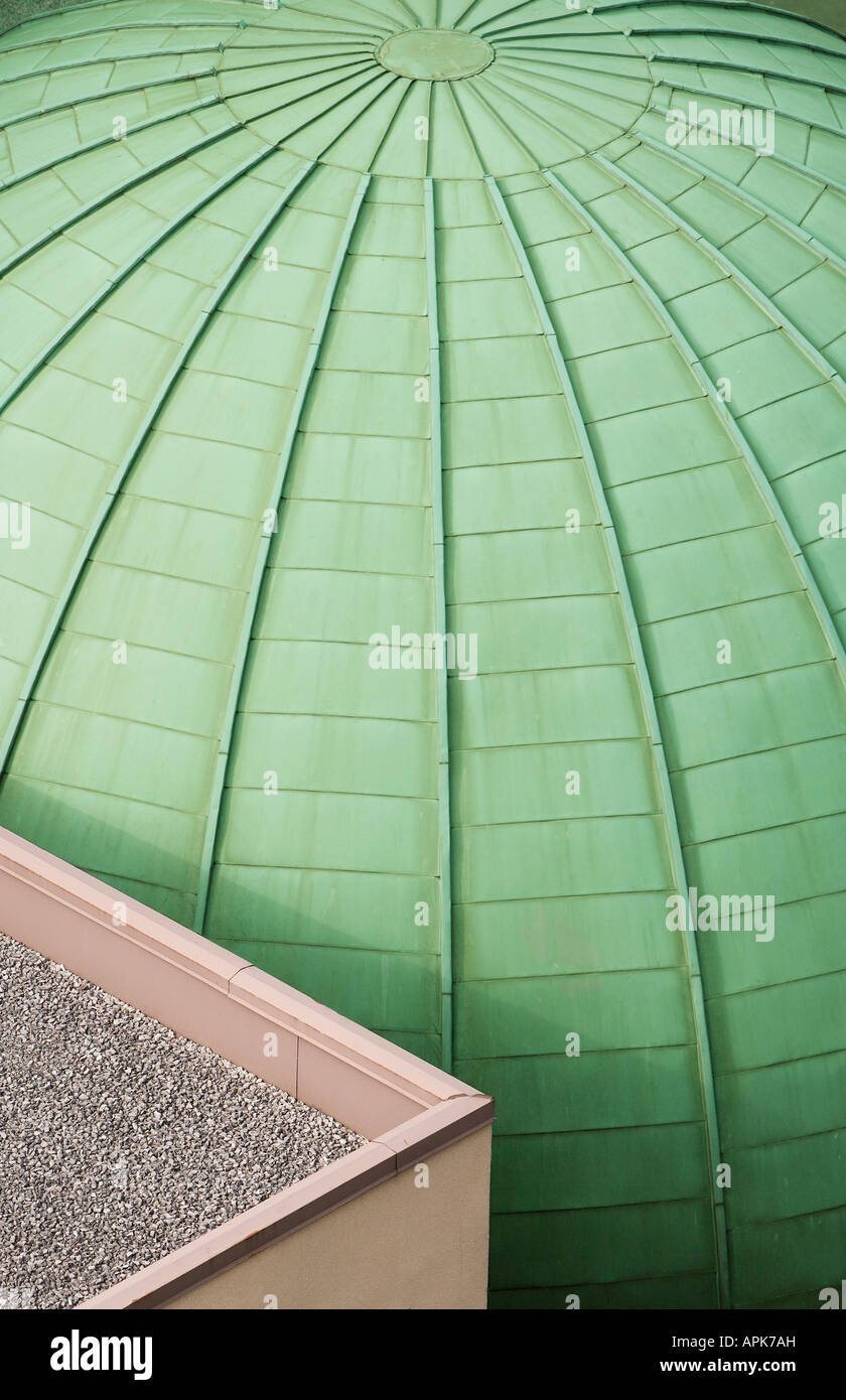 Green oxidized dome roof - Stock Image