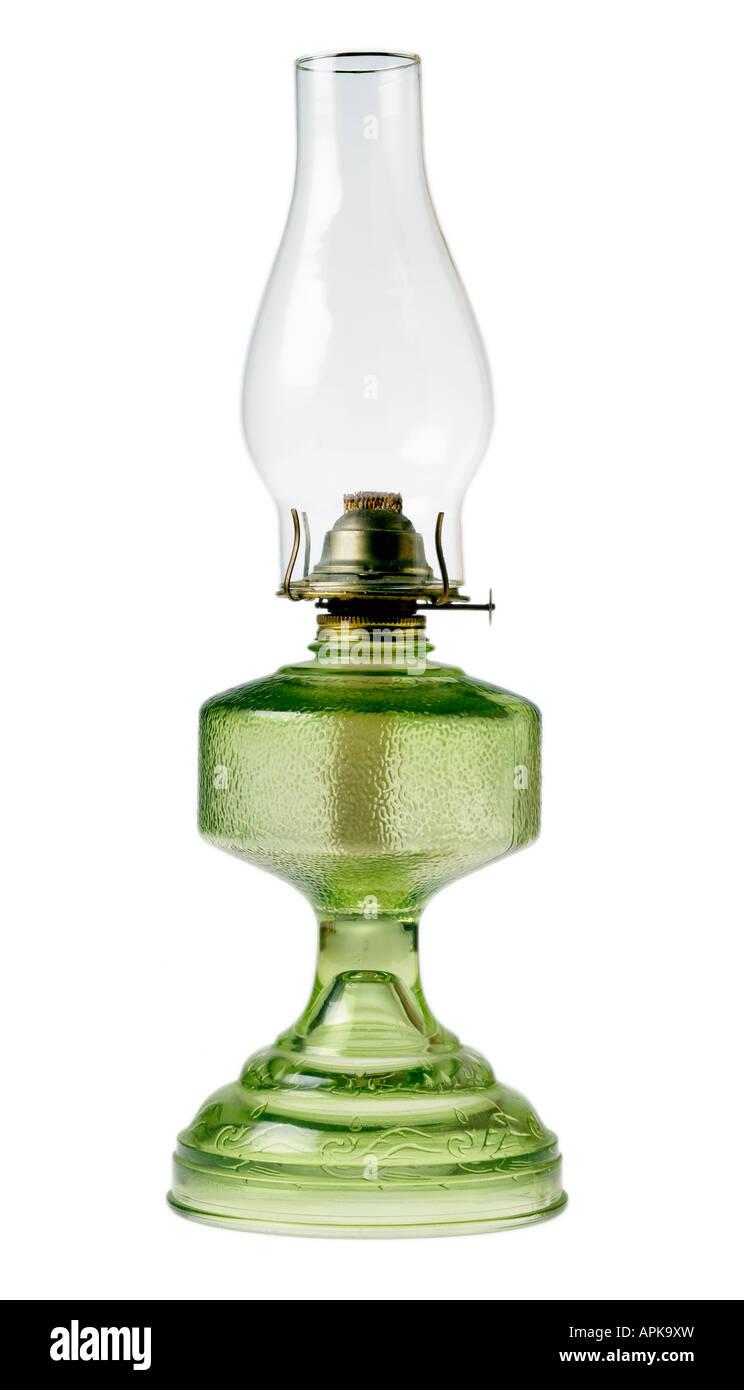 Antique kerosene lamp - Stock Image